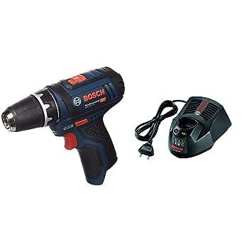 Bosch GSR 12V-15 Professional - Atornillador a batería sin batería ni cargador (12V) + Bosch 2 607 225 134 Cargador Baterías 12 V, Negro