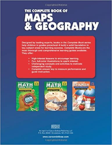 Amazon.com: The Complete Book of Maps and Geography, Grades 3 - 6 ...