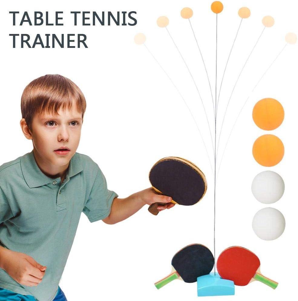 TRYSHA Mesa de ping pong Trainer, Mesa de ping pong raqueta Individual Interactivo máquina de bolas, eje elástico suave Trainer Mesa de ping pong, tenis de mesa entrenador del equipo del kit de entren