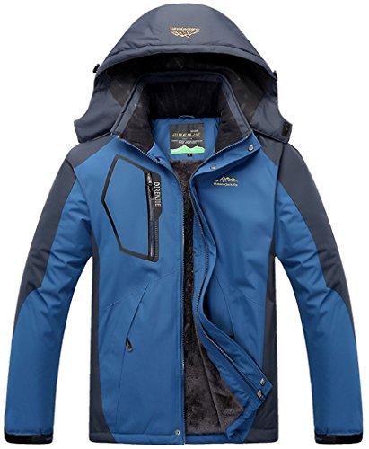 Al Chaqueta Oscuro Impermeable Ropa Excursionismo de de Esquí Aire Lana Sawadikaa Deporte Chaqueta Chubasqueros de Hombre Libre Nieve Azul Capa xX15fqnwgB