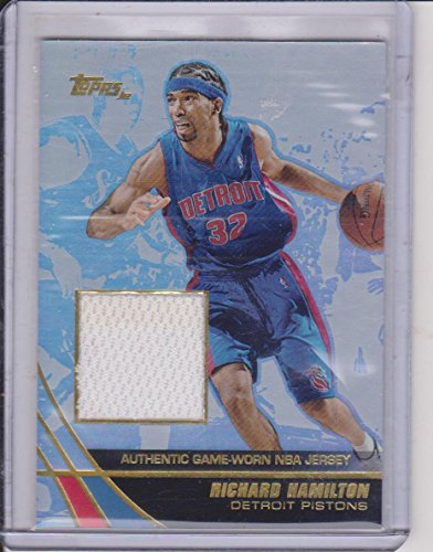 - 2004 Topps Richard Hamilton Pistons Game Used Jersey Basketball Card #JE-RH