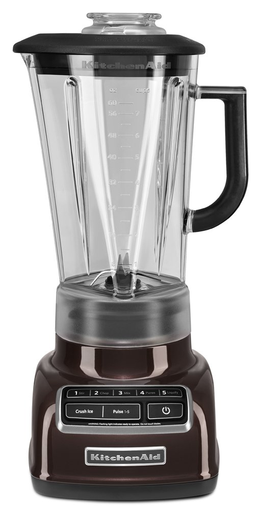 KitchenAid KSB1575ES 5-Speed Diamond Blender with 60-Ounce BPA-Free Pitcher - Espresso