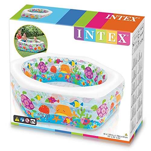 Intex Swim Center Ocean Reef Inflatable Pool, 75'' X 70'' X 24'', for Ages 6+ by Intex (Image #2)