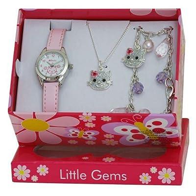 Ravel Little Gem Kids Kitten Watch & Jewellery gift Set For Girls R2212 from Ravel