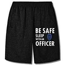 Zeppe Goo Be Safe Sleep with an Officer, Police Cop Shorts Sweatpants For Men's