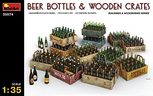 Used, PLASTIC MODEL BUILDING DIORAMA BEER BOTTLES AND WOODEN for sale  Delivered anywhere in USA