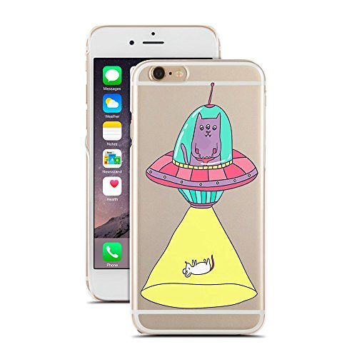 [Cute Cats - Ufo Sticker - Cat Lovers - Pet Lovers - for iPhone 5/5S - Super Slim Case] (Funny Human Cat Costumes)