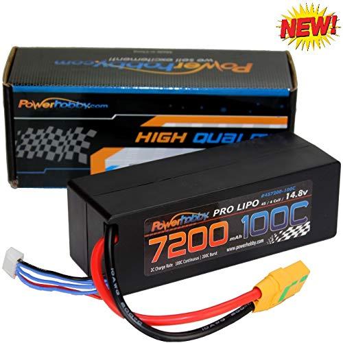 Powerhobby 4s 14.8v 7200mah 100C-200C Lipo Battery w XT90 Plug Hard Case 4-Cell FITS : Arrma Kraton Tyhpon Senton Tailon Outcast FAZON - Box Kraton
