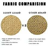 SUNNY GUARD 12' x 12' Sand Square Sun Shade Sail UV
