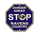 Fremont Die Consumer Products F90531 Styrene Stop Sign - Baltimore Ravens
