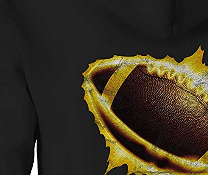 Football Zip Up Hoodie Football Touchdown Hooded Sweatshirt for Men