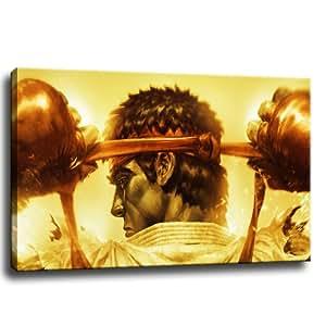 Street Fighter - cuadro sobre lienzo - 100 x 70 cm