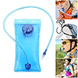 GEYUEYA Home Hydration Bladder, Portable Hydration Pouch 2 liters Leak Proof Water Pouch Water Reservoir Hydration Backpacks Bags for Sport Hiking Biking Climbing Cycling Running, Blue
