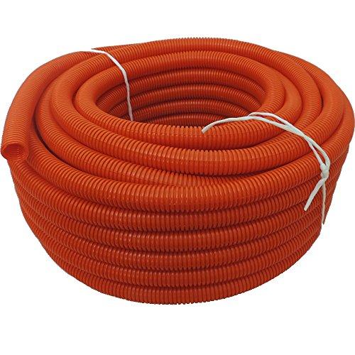 "(1/2"" Dia. x 50 ft, Orange) HydroMaxx Flexible Polyethylene LDPE NON-Split Corrugated Wire Loom Tubing"