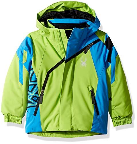 Spyder Boys' Mini Challenger Ski Jacket, Fresh/French Blue/Black, Size 7