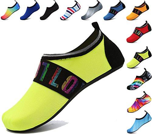 Hommes Sport Exercice Nager Pour Loveyellow Nautiques Aqua Piscine Adituob De Plage Barefoot Chaussures Chaussettes Et Femmes R5q6x