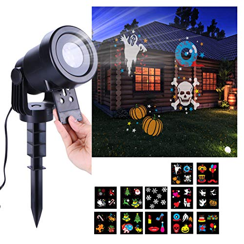 WOLADA Halloween Party Lights Projector 12 Pattern Lamp