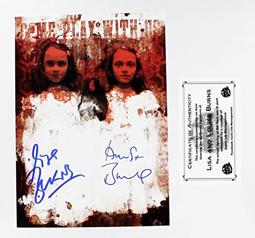 Nerd Block The Shining Twins Lisa and Louise Burns Autographed Picture