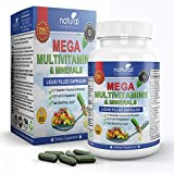 MEGA MULTIVITAMIN Capsules for Women Men - Vitamins and Minerals Liquid Capsules Supplement + Coq10