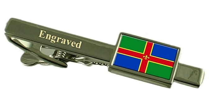 Lincolnshire County England Flag Cufflinks Engraved Box