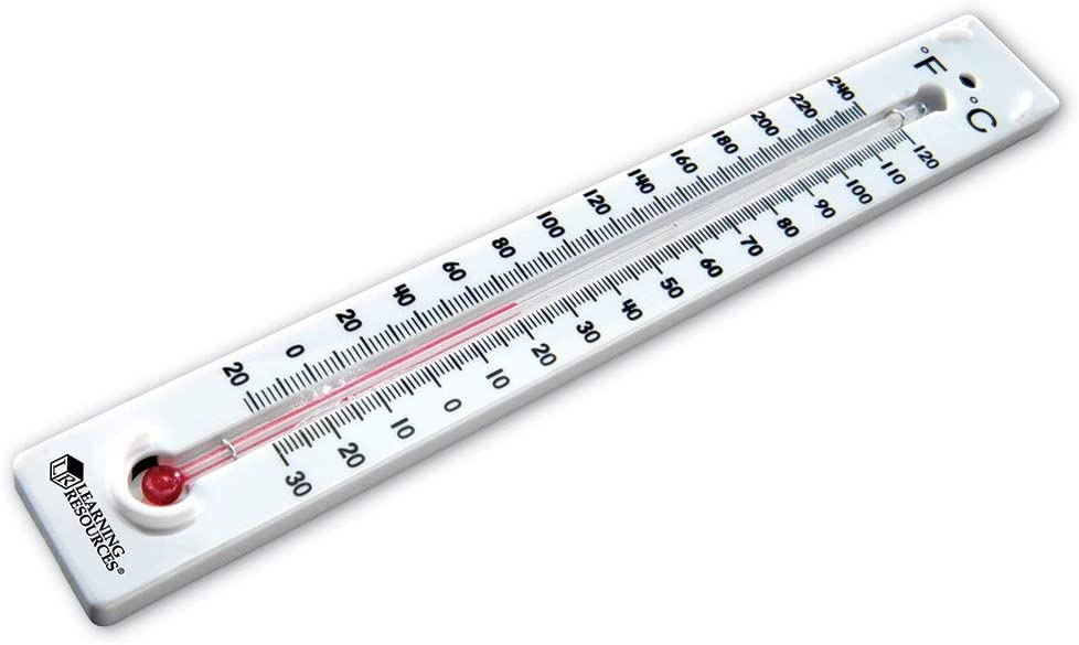 Learning Resources Boiling Point Thermometers, Science Classroom Accessories, Mercury Free, Non-Toxic, Set of 10, Ages 8+