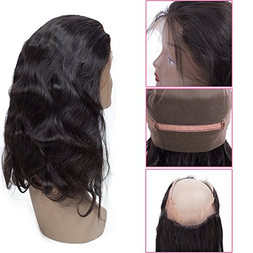 Sweetie Hair 7A Grade Brazilian Virgin Human Hair Body Wave 3 Bundles With 360 Full Lace Band Frontals (16 18 20 with 14 inch) Free Part Natural Color by Sweetie Hair (Image #4)