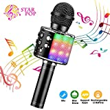 BlueFire 4 in 1 Bluetooth Handheld Wireless Karaoke Microphone Portable Speaker Machine Home KTV Player with Record Function for Android & iOS Devices(Black)