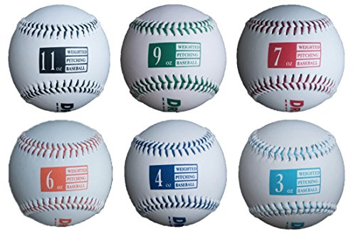 Driveline Leather Weighted Baseballs - Set of 6 by Driveline Baseball