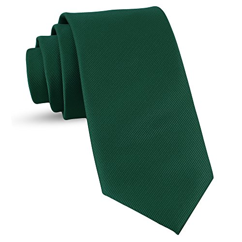 Satin Solid Stylish (Handmade Emerald Green Ties For Men Skinny Woven Slim Tie Mens Ties : Thin Necktie, Solid Color Neckties 3