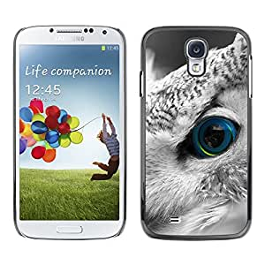 LASTONE PHONE CASE / Carcasa Funda Prima Delgada SLIM Casa Carcasa Funda Case Bandera Cover Armor Shell para Samsung Galaxy S4 I9500 / Owl Smart Bird Feather Eye Looking