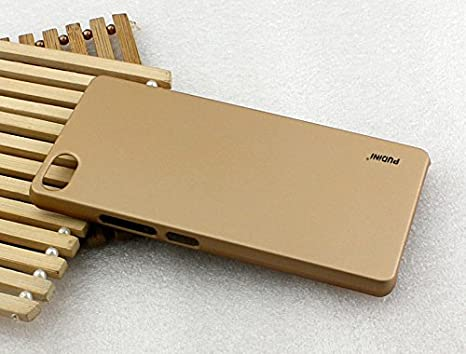 new style 5456e ecac4 Pudini rubber paint back cover for Lenovo P70 - Gold: Amazon.in ...