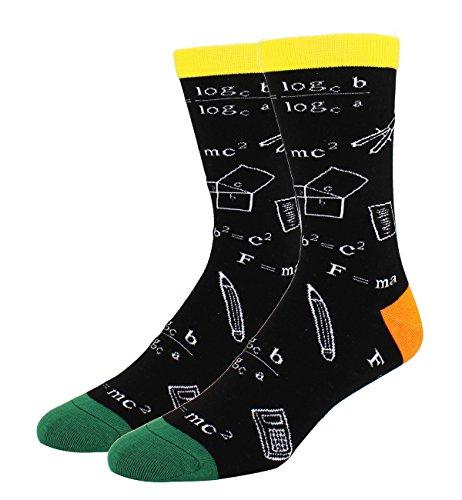 Happypop Novelty Funny Math Crew Socks for Men Nerd School Teacher Formula Socks in -