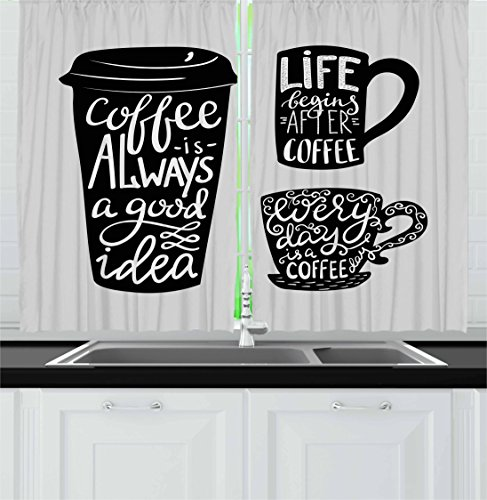 Kitchen Curtains Coffee Theme Design Ideas, Coffee Themed