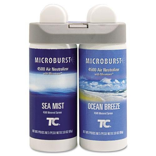 Rubbermaid Commercial 3485951 Microburst Duet Refills, Sea Mist/Ocean Breeze, 3oz, 4/Carton by Rubbermaid Commercial