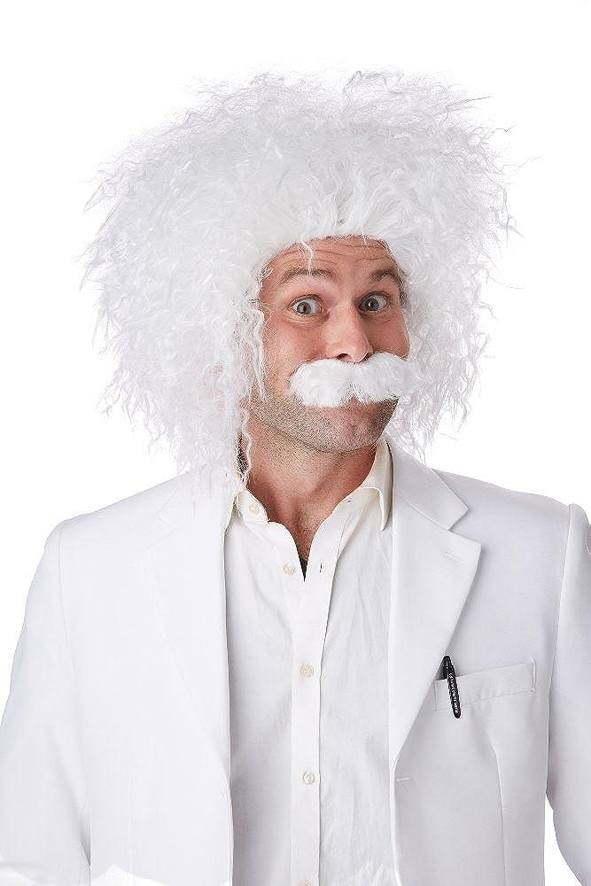 California Costumes E=MC2 Wig & Mustache White One Size 70796