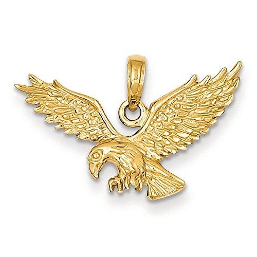 Poli Massif 14 Carats Pendentif aigle-Dimensions :  17 cm x 27 mm-JewelryWeb