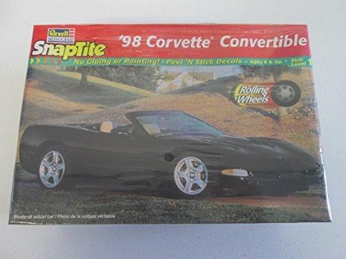 1997 Revell Monogram Snaptite 1998 Corvette Convertible 1:25 Black