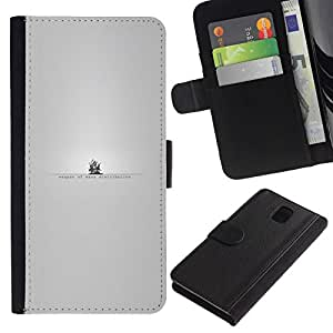 NEECELL GIFT forCITY // Billetera de cuero Caso Cubierta de protección Carcasa / Leather Wallet Case for Samsung Galaxy Note 3 III // The Pirate Bay