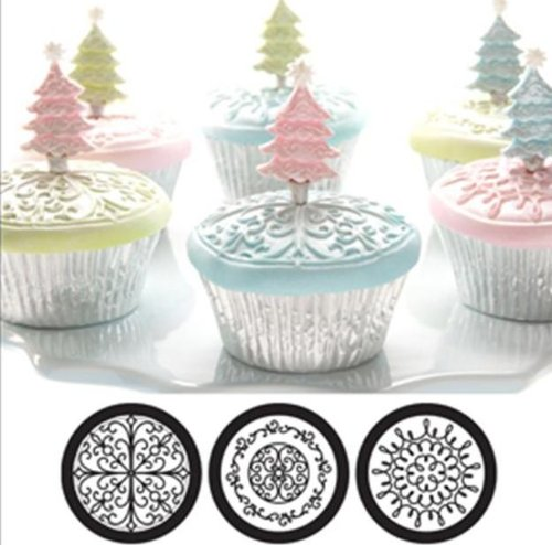 (Cupcake and Cookie Texture Tops in Scroll)