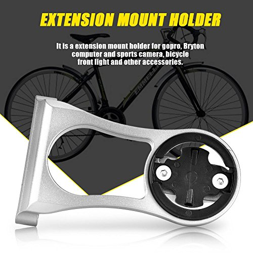 Bicycle Computer Mount, Bike Mount Holder Sports Camera Handlebar Extension Bracket Support (Titanium) by Dioche (Image #2)