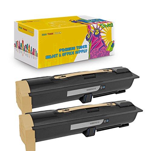 New York TonerTM New Compatible 2 Pack W850H21G High Yield Toner for Lexmark - W850N   W850DN - Black (W850h21g High Yield Toner)