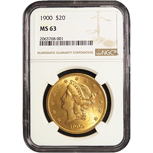 Head Double Eagle Gold Coin - 1900 $20 Gold Liberty Head Double Eagle $20 MS63 NGC