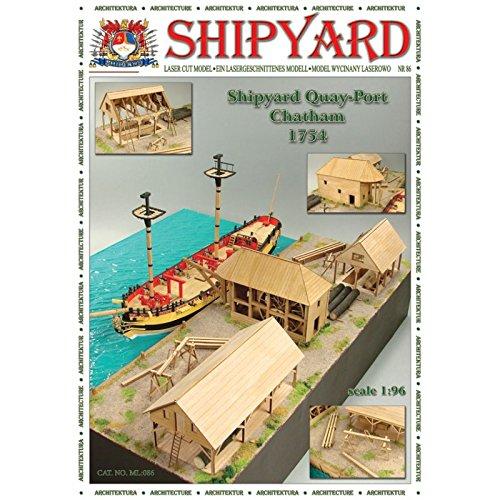 Shipyard Nr 86 Kai - Hafen - Chatham 1754 scale 1 96