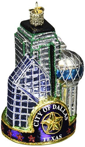 Old World Christmas Ornaments: Dallas City Glass Blown Ornaments for Christmas Tree