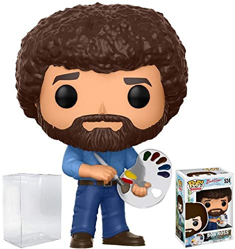 Funko Pop! Television: Bob Ross - The Joy of Painting #524 Vinyl Figure (Bundled with Pop Box Protector Case)