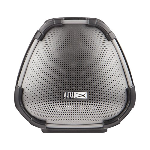 Altec Lansing Versa Smart Portable Bluetooth Speaker with Amazon Alexa Voice Assistant, Black and Silver by Altec Lansing