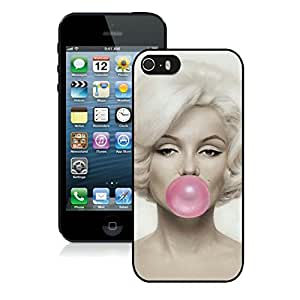 Nice and Beautiful Case Marilyn Monroe 3 iPhone 5S Cover in Black