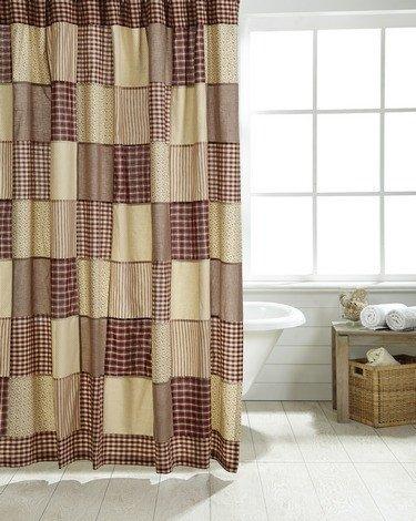 Primitive Star Quilt Shop Cheston Patchwork Shower Curtain