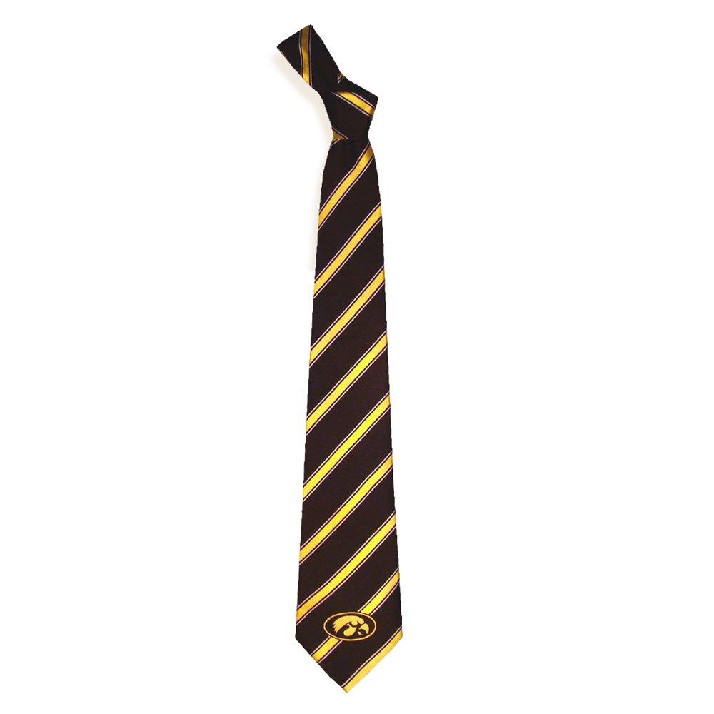 amazon com iowa hawkeyes collegiate woven polyester necktie