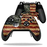 MightySkins Protective Vinyl Skin Decal for Microsoft Xbox One Elite Wireless Controller case wrap cover sticker skins Vintage Flag
